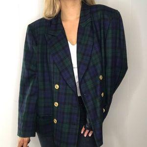 Pendleton Vintage | Tartan Blazer Jacket Wool